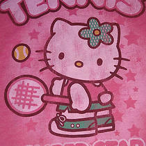 New Junk Food Girls Tweens Xl Hello Kitty Tennis T-Shirt Tee Pink Womens Small Photo