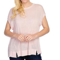 New Kate & Mallory Blush Pleated Back Knit Top Size Medium Photo
