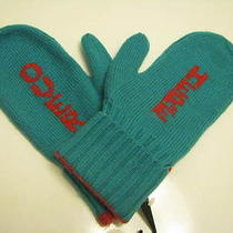 New Kate Spade Big Apple Over Here New York City Teal/red Wool Gloves Mittens Photo