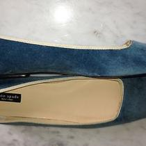 New Kate Spade Blue Velvet Ballet Flats Shoes 9 1/2 B Photo
