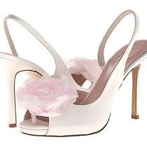 New Kate Spade Camilla Peep Toe Sandals Heels Shoes Flower Size 8 M  495 Photo