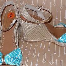 New Kate Spade - Candice - Sandal  Espadrille Wedge Sz 9.5 Shoes Blue Women Prom Photo