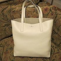 New Kate Spade Henry Lane Lulu Leather Tote Bag in Ostrich Egg & 2 Free Gifts Photo
