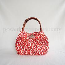 New Kate Spade Into the Wild Nylon Small Karen Shoulder Bag Orange Pink Fun Chic Photo