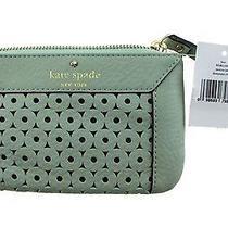 New Kate Spade Mint Leather Wristlet Purse  Photo