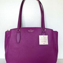 New Kate Spade Monet Large Triple Compartment Tote Leather Baja Rose Photo
