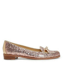 New Kate Spade New York 'Cora' Loafers Flats. in Rose Gold Glitter. Size 6 M. Photo