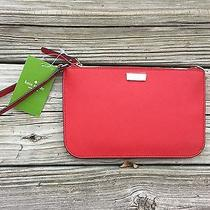 New Kate Spade New York Lolly Leather Newbury Lane Wristlet /wallet Pillbox Red  Photo