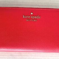 New Kate Spade New York Staci Large Continental Wallet Digital Red Photo