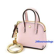New Kate Spade Things We Love Mini Maise Handbag Keychain Key Fob in Blush Pink Photo