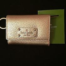 New Kate Spade Wellesley Darla Leather Wallet With Keychain Rosegold Wlru1736 Photo