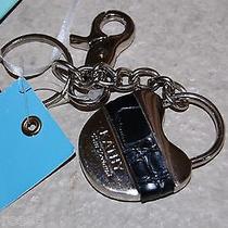 New/kathy Van Zealand Key Ring/fob Black Leather Heart Lock W/gift Card Holder Photo