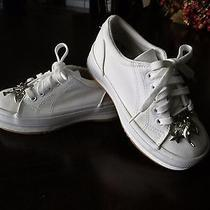 New Keds Girls White Shoes  Dolphin Heart Star Shoelace Charms Size 11.5 Youth Photo