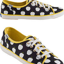 New Keds Kate Spade New York Shoes Sneakers Yellow Black White Apple 8.5 6 39.5 Photo