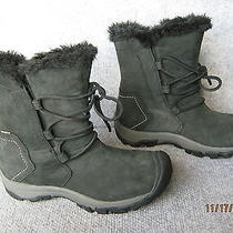 New Keen Women's Brighton Low Nubuck Leather Waterproof Boots 6 Black Insulated Photo