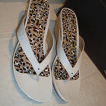 New Kenneth Cole Reaction Womens Far Chase White Wedge Sandals Shoes 10 Medium Photo
