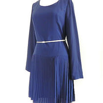 New  Kensie Dress Size 6 Knee Length Long Sleeve Navy Blue Full Lined Photo