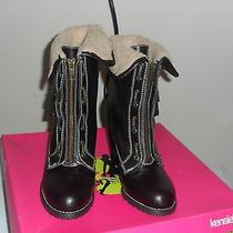 New Kensie Girl  Ramina Brown Fold-Over Man Made Boots 6.5 Medium (Bm)  Photo