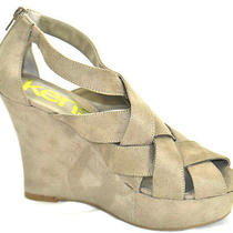 New Kensie Girl Size 8m Women's Gavin Taupe Platform Wedge Sandal Photo