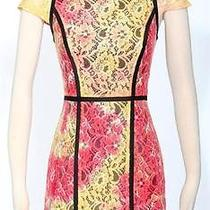 New Kensie Women's Bright Colored Lace Cocktail Sheath Dress Sz 8 119 Photo