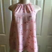 New Kensie Womens Blush Floral Tie Back Top Size M Photo