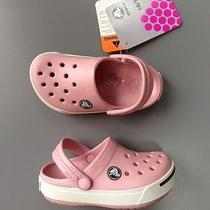 New Kids Crocs Crocband Ii Clogs Sandal Shoes Size 12/13 Petal Pink / Graphite Photo