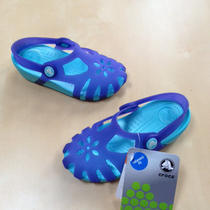New Kids Crocs Shirley Girls Sandals Ultraviolet/aqua Purple Blue Shoes C10 Photo