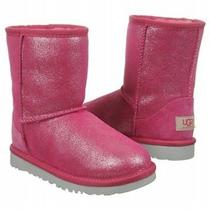 New Kids  Ugg Uggs Classic Fushcia Glitter Winter Boot Sale Size 13 140 Photo