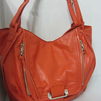 New Kooba Zoey Hobo Bag Shoulder Bag Purse Handbag Orange Leather /silver Photo