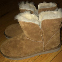 New Koolaburra Ugg 129 Classic Short Suede Boot Chestnut Shearling Lined Wmns 7 Photo