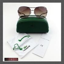 New Lacoste Aviator Sunglasses L109s 315 Green/satin Beige Photo