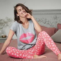 New Ladies Avon Glitter Pink Lips Pyjamas Cotton Pj's 14-16 Christmas  Photo