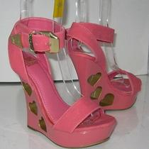 New Ladies Blush/gold Heart 5.5
