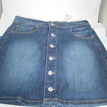 New Ladies Size 6 Express Stretch Jeans Denim Short Skirt Button Front  59.90 Photo