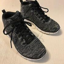 New Ladies Skechers Flex Appeal High Top Tennis Shoes Sneakers Sz 5 Black/gray Photo