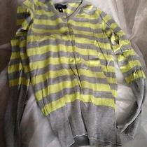 New Ladies Thin Yellow Gray Sweater Women Ladies Juniors Girls S Stripes Gift  Photo