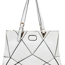New Lady Designer Women's Leather Hobo Shoulder Purse Handbag Totes Bag White Photo