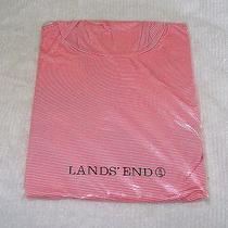 New Land's End Turtle Neck Cameo Blush Stripe Size Medium Thermal Skin Heat Photo
