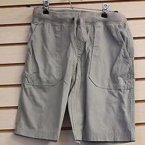 New Lands End Boys Size Small 8 Husky Wet Cement Grey Gray Boat Shorts High End Photo
