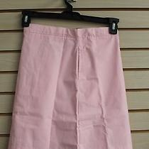 New Lands End Girls Size 12 Pink Pincord Aline Skirt Sits Below Knee High End Photo