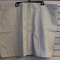 New Lands End Womens Plus Size 30w Chino Khaki Skirt High End Skirt - Cute  Photo