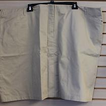 New Lands End Womens Plus Size 32w Chino Khaki Skirt High End Skirt - Cute  Photo