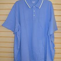 New Lands Ends Mens Size 5x 5xl True Blue Short Sleeve Polo Shirt W Piped Collar Photo
