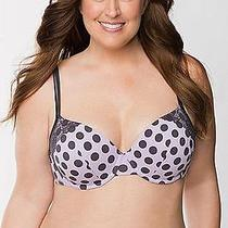 New Lane Bryant Cacique Cotton Boost Plunge Bra With Lace 40ddd Photo