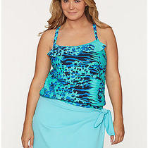 New Lane Bryant Cocos Swim Blue Sarong  One Size Cover Up 14-20 Photo
