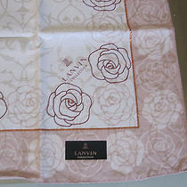 New Lanvin Collection Japan Handkerchief Pink Roses White Scarf Photo