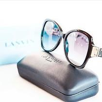 New Lanvin Fashion Butterfly Black Sunglasses Sln 553 Col 0700 Photo