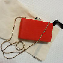 New Lanvin Orange Pony Hair Clutch With Tags and Dust Bag Photo