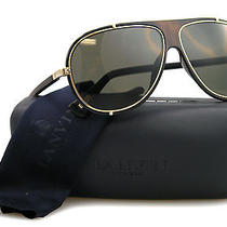 New Lanvin Sunglasses Men Aviator Sln 021v Black O300 Sln021v 62mm Photo