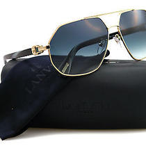 New Lanvin Sunglasses Men Sln 023 Gold O300 Sln023 61mm Photo